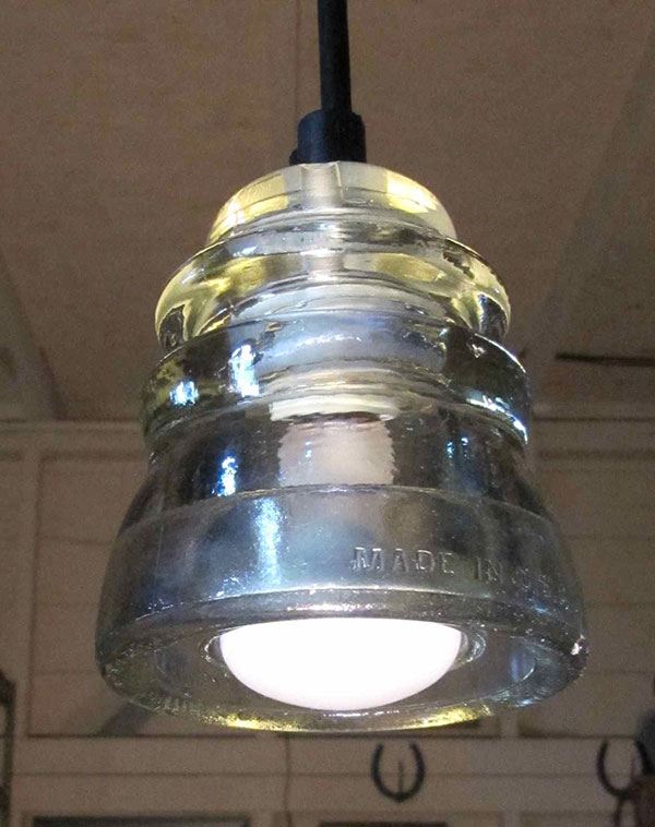 Original insulator lights railroadware for Insulator pendant light